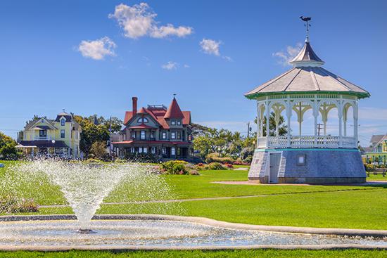 Ocean Park in Oak Bluffs, Martha's Vineyard, Massachusetts, USA.