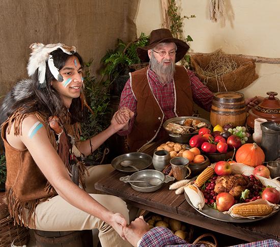 Thanksgiving pilgrims reenactment